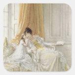 Madre y niño, 1864 pegatina cuadrada