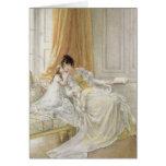 Madre y niño, 1864 tarjeta de felicitación