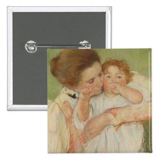 Madre y niño, 1897 pin cuadrado