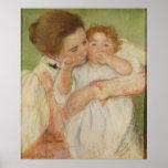 Madre y niño, 1897 póster