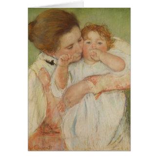 Madre y niño, 1897 tarjeta de felicitación
