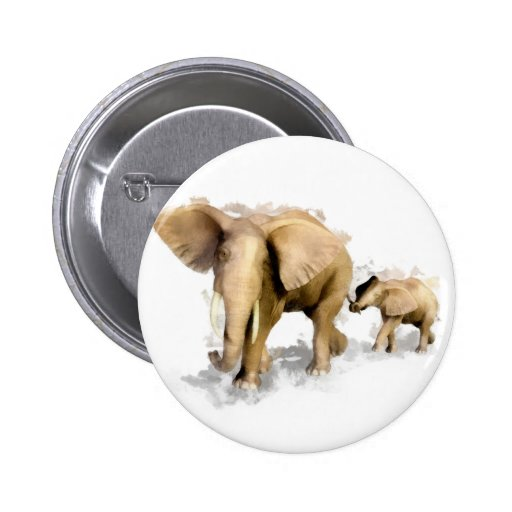 Madre y niño 1 del elefante pins