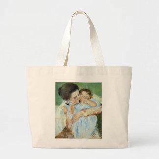 Madre y niño bolsa de tela grande