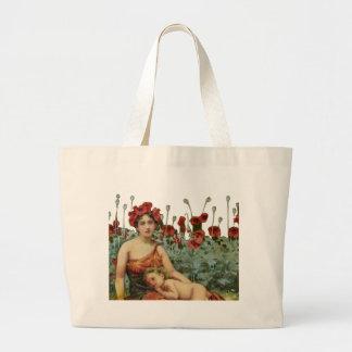 Madre y niño bolsa tela grande