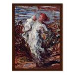 Madre y niño de Daumier Honoré Tarjetas Postales