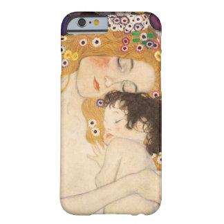 Madre y niño de Gustavo Klimt Funda De iPhone 6 Barely There
