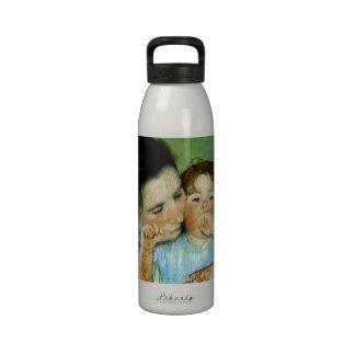 Madre y niño de Maria Cassat Botella De Agua Reutilizable