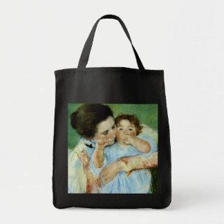 Madre y niño de Maria Cassat Bolsas De Mano