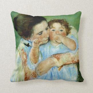 Madre y niño de Maria Cassat Cojin
