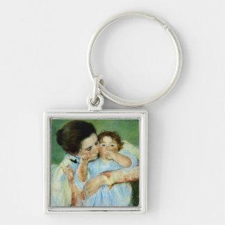 Madre y niño de Maria Cassat Llavero Personalizado