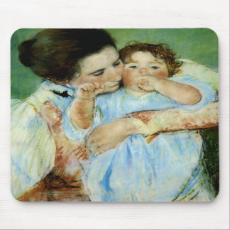 Madre y niño de Maria Cassat Alfombrilla De Ratón