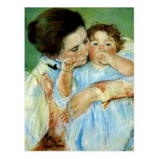 Madre y niño de Maria Cassat Postal