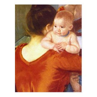 Madre y niño de Pedro Renoir Tarjeta Postal