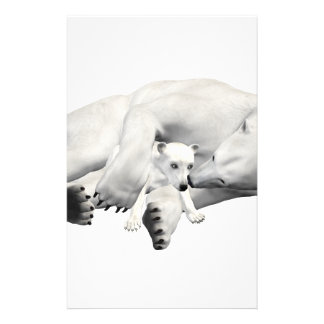 Madre y niño del oso polar  papeleria de diseño