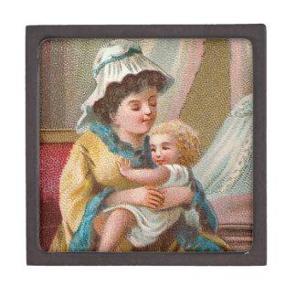 Madre y niño del Victorian Caja De Joyas De Calidad