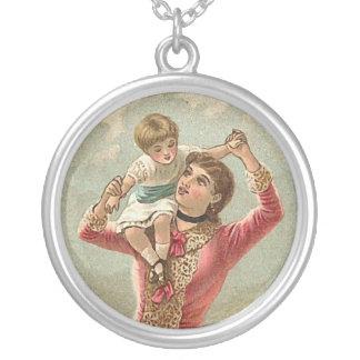 Madre y niño del Victorian Colgante Redondo