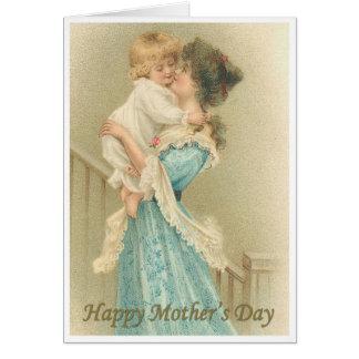 Madre y niño del Victorian Felicitación