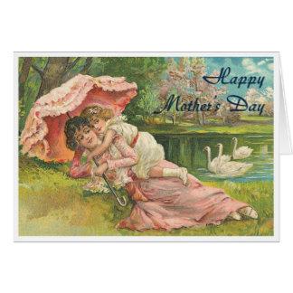 Madre y niño del Victorian Tarjeta De Felicitación