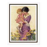 Madre y niño del vintage de Jessie Willcox Smith Tarjetas Postales