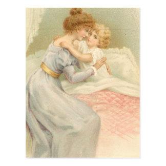 Madre y niño del vintage tarjeta postal