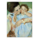 Madre y niño felicitación