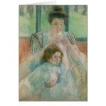 Madre y niño felicitacion