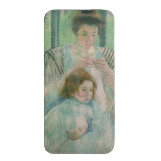 Madre y niño funda acolchada para iPhone