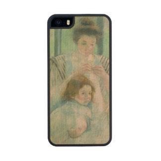 Madre y niño funda de arce carved® para iPhone 5