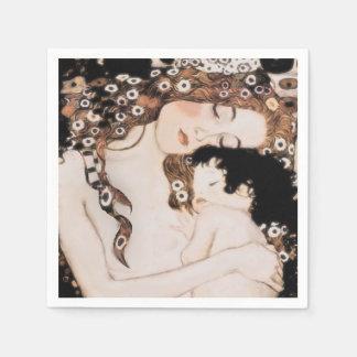 Madre y niño Gustavo Klimt Servilleta Desechable