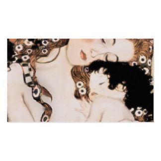 Madre y niño Gustavo Klimt Tarjetas De Visita
