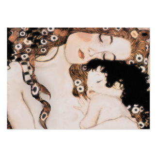 Madre y niño Gustavo Klimt Tarjetas De Visita Grandes