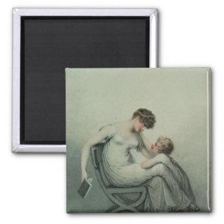 Madre y niño imanes