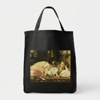 Madre y niño, Leighton, arte del Victorian del Bolsa Tela Para La Compra