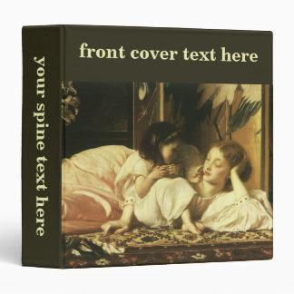 Madre y niño, Leighton, arte del Victorian del Carpeta 3,8 Cm