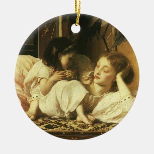 Madre y niño, Leighton, arte del Victorian del Ornamentos De Navidad