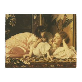 Madre y niño, Leighton, arte del Victorian del Cuadros De Madera
