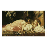 Madre y niño, Leighton, arte del Victorian del Poster