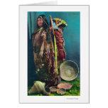 Madre y niño nativos de Piuta en un Papoose Tarjeta De Felicitación