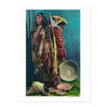 Madre y niño nativos de Piuta en un Papoose Tarjeta Postal