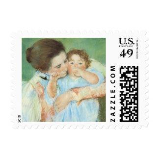 Madre y niño por Cassatt, impresionismo del Envio