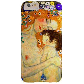 Madre y niño por el arte Nouveau de Gustavo Klimt Funda De iPhone 6 Plus Barely There