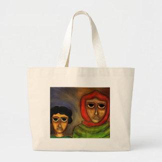 Madre y niño por el rafi talby bolsa tela grande