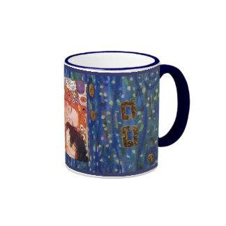 Madre y niño por Klimt Tazas