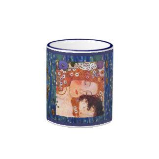 Madre y niño por Klimt Taza De Dos Colores