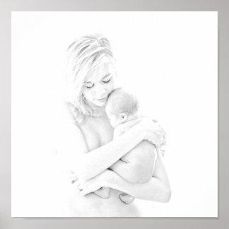 Madre y niño póster