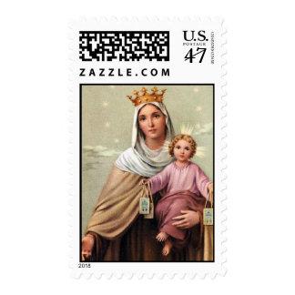 Madre y niño sellos postales