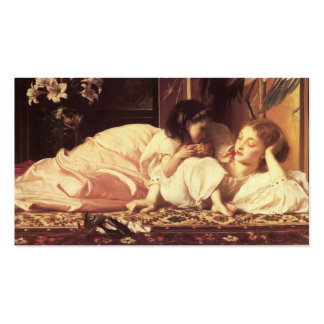 Madre y niño - señor Frederick Leighton Tarjetas De Visita