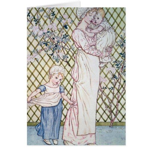 Madre y niño tarjeta de felicitación