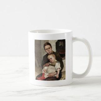 Madre y niño taza clásica
