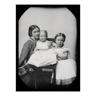 Madre y niños Daguerreotype de Gertrudis Hubbard Posters